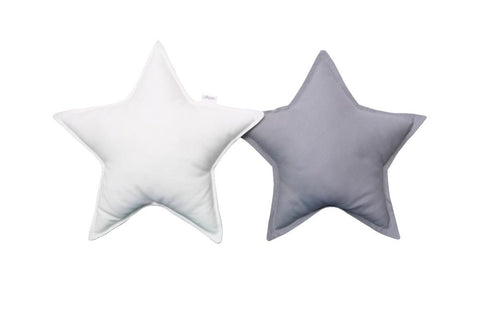 Gray and White Star pillows set