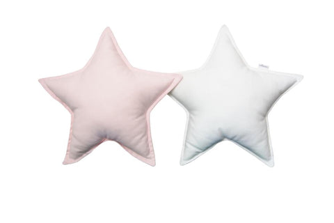 White and Light Pink Star pillows set