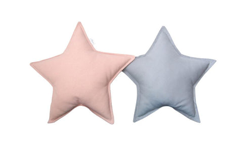 Gray and Blush Star Pillows set