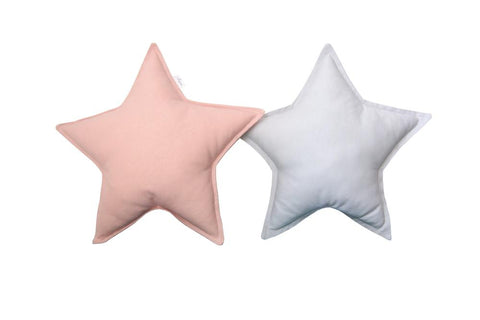 Light Gray and Blush Star Pillows set