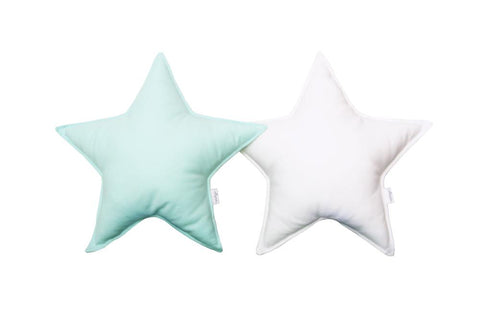 Mint and White Star pillows set