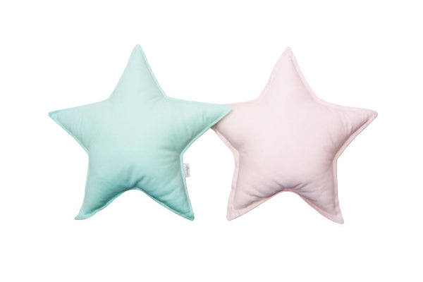 Mint and Light Pink Star Pillows set