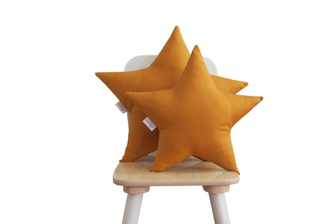 ochre star pillow