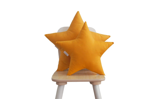 mustard star pillow