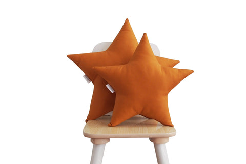 rust star pillow