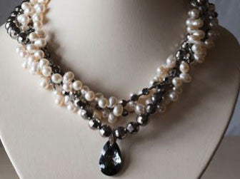Vintage pearl necklace from The Story of Love