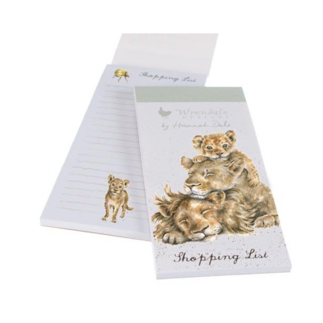 Wrendale Shopping List Note Pad!  Lions!