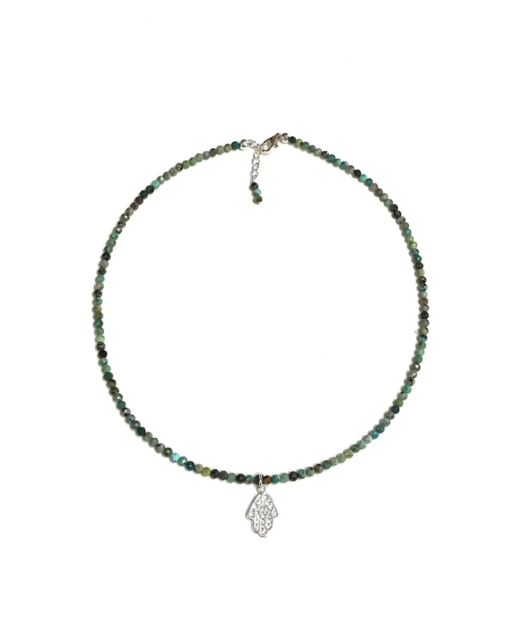 African Turquoise With Hamsa Necklace!