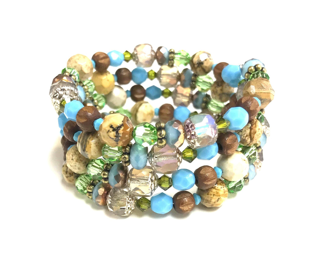 Multi Coloured Coil Bracelet!