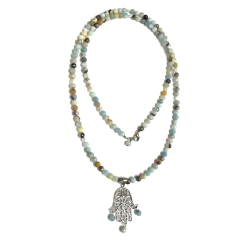 Amazonite Hamsa Necklace!