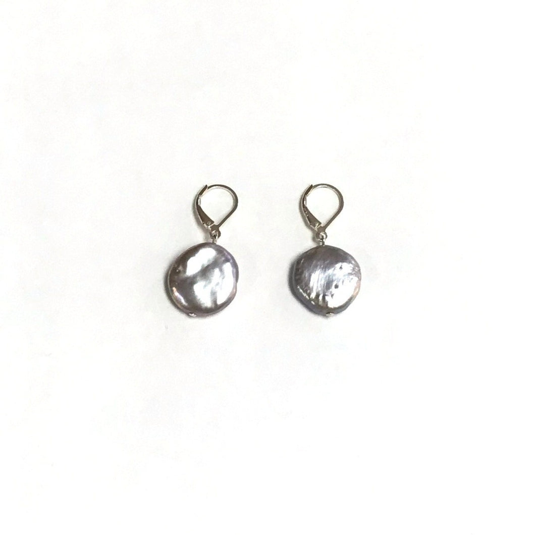 Silver Grey Freshwater Coin Pearls!