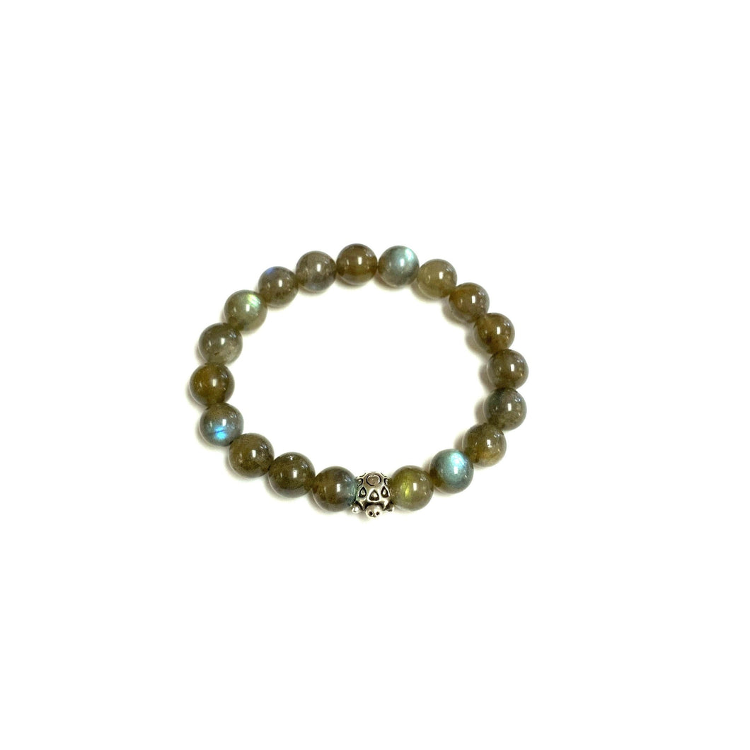 BZen Labradorite and Sterling Silver Turtle Bracelet!