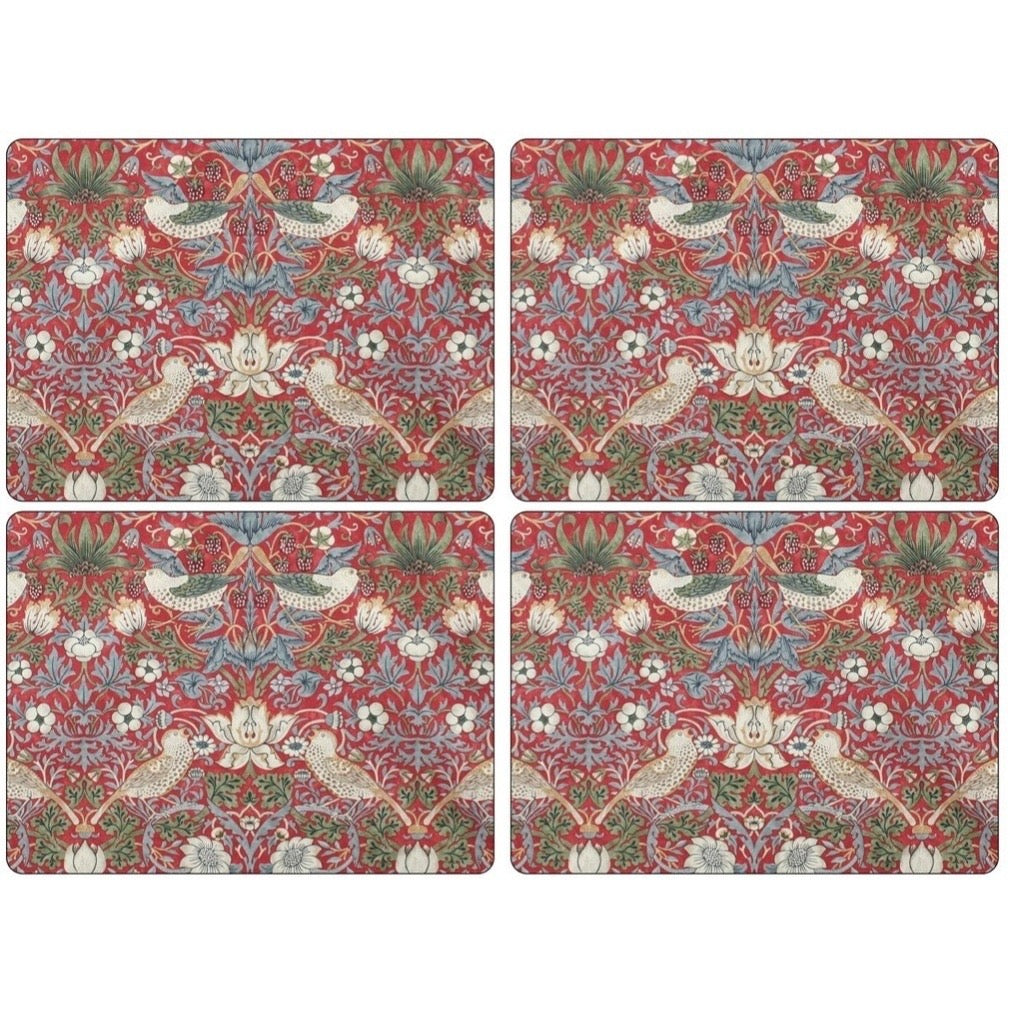 Portmeirion Placemats!  Strawberry Thief Red!