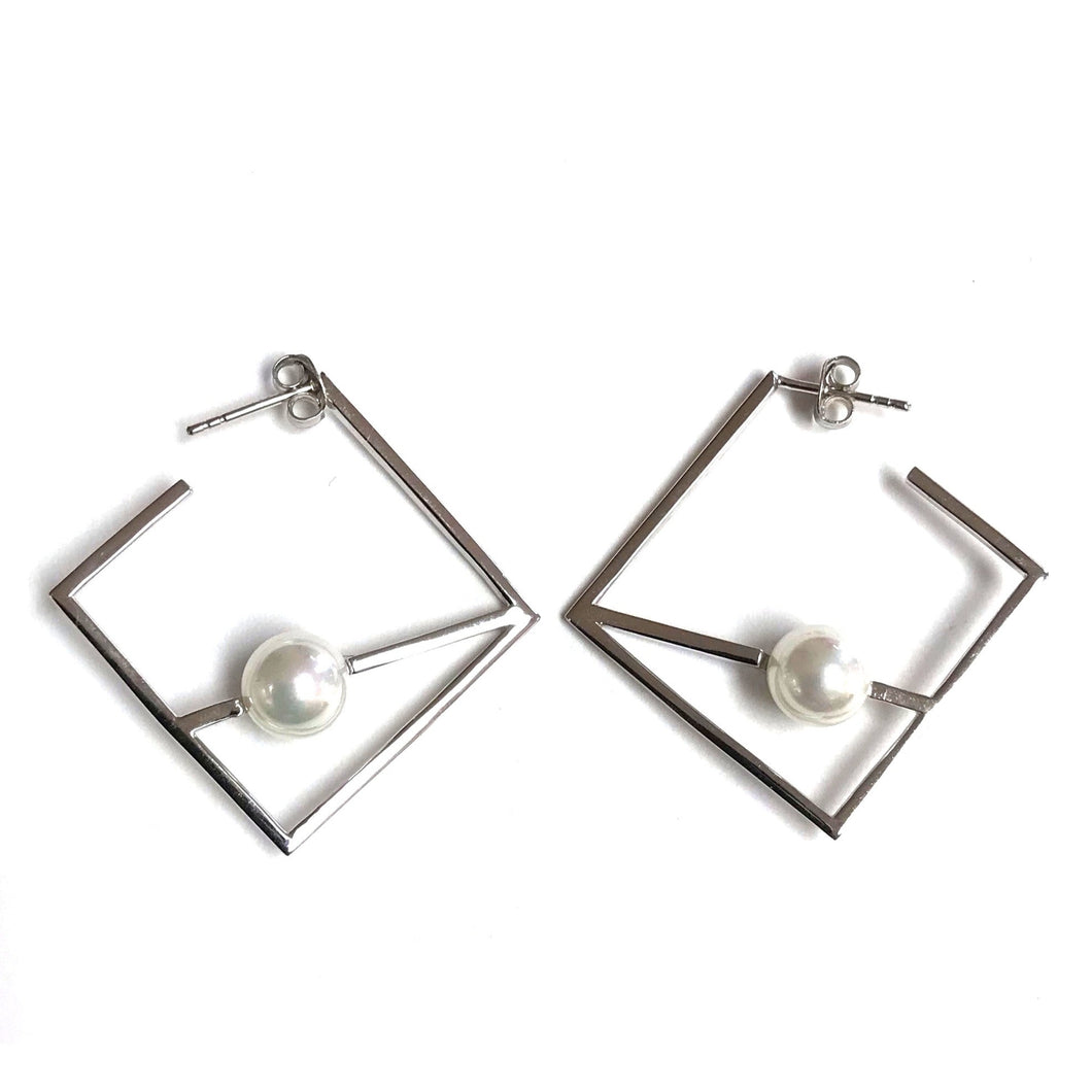 Geometric Sterling Silver Earrings!