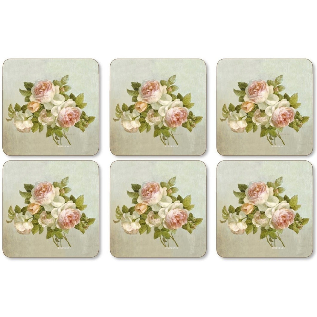 Antique Roses Coaster Set!