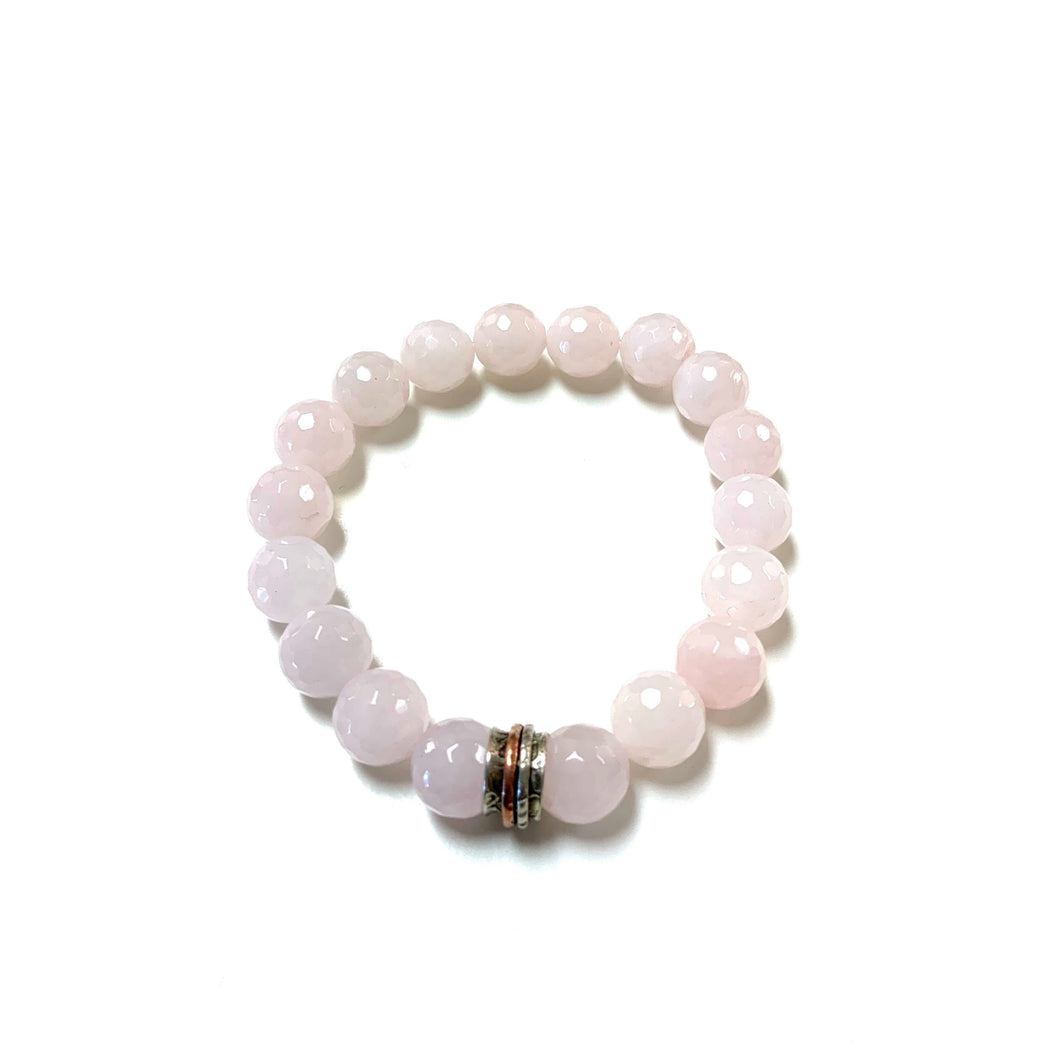 Meditation Ring BZen Bracelet In Rose Quartz!