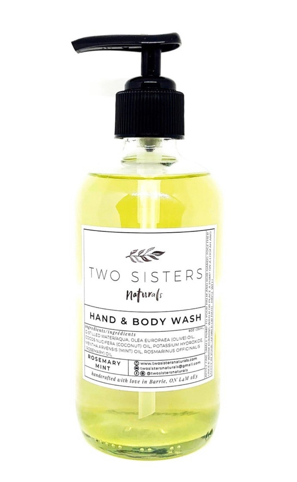 Two Sisters Rosemary Mint Hand Wash!