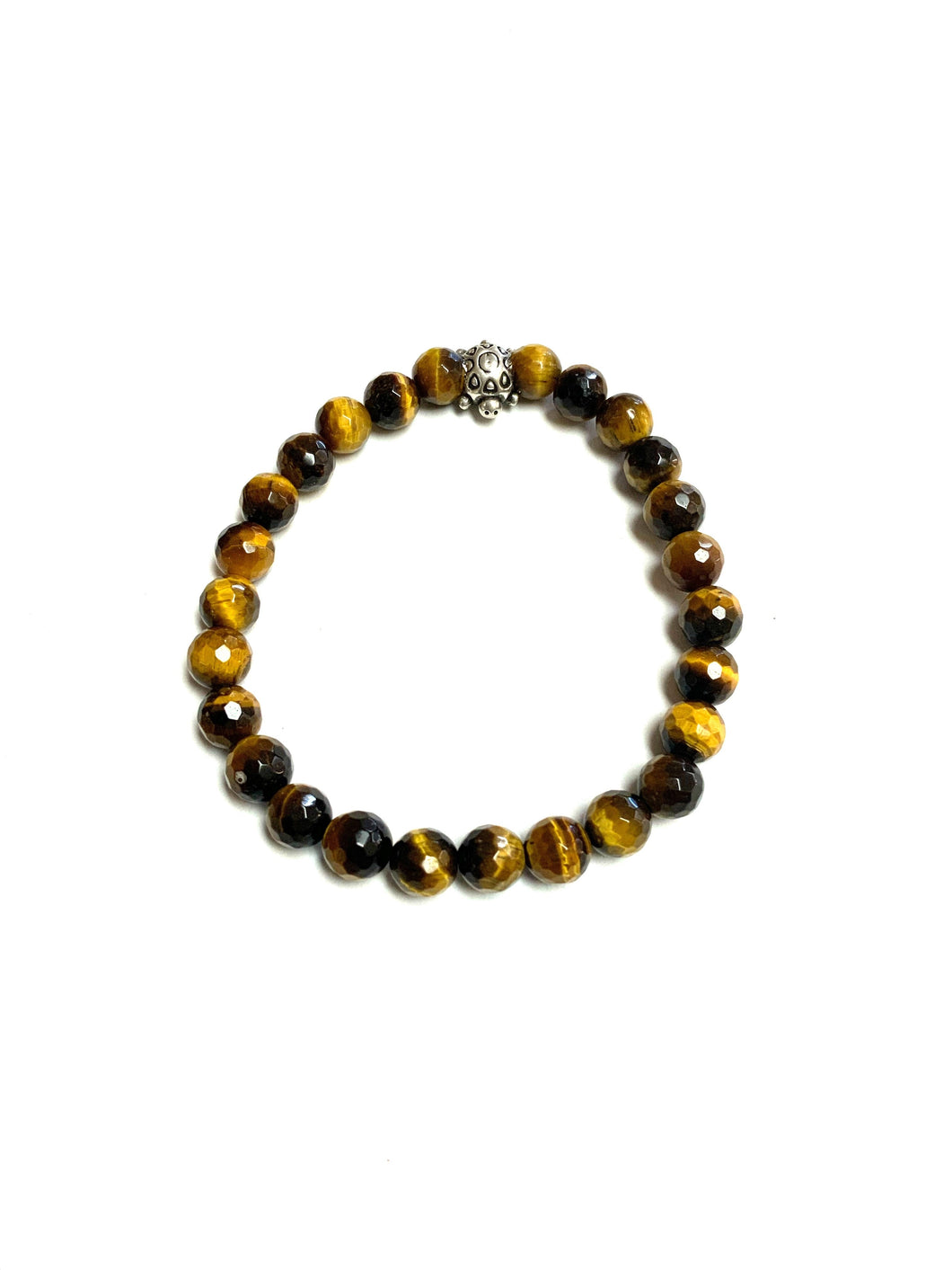 BZen Tigers Eye Bracelet With Sterling Silver Turtle!