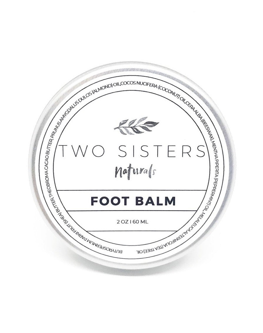 Foot balm foot cream two sisters spa