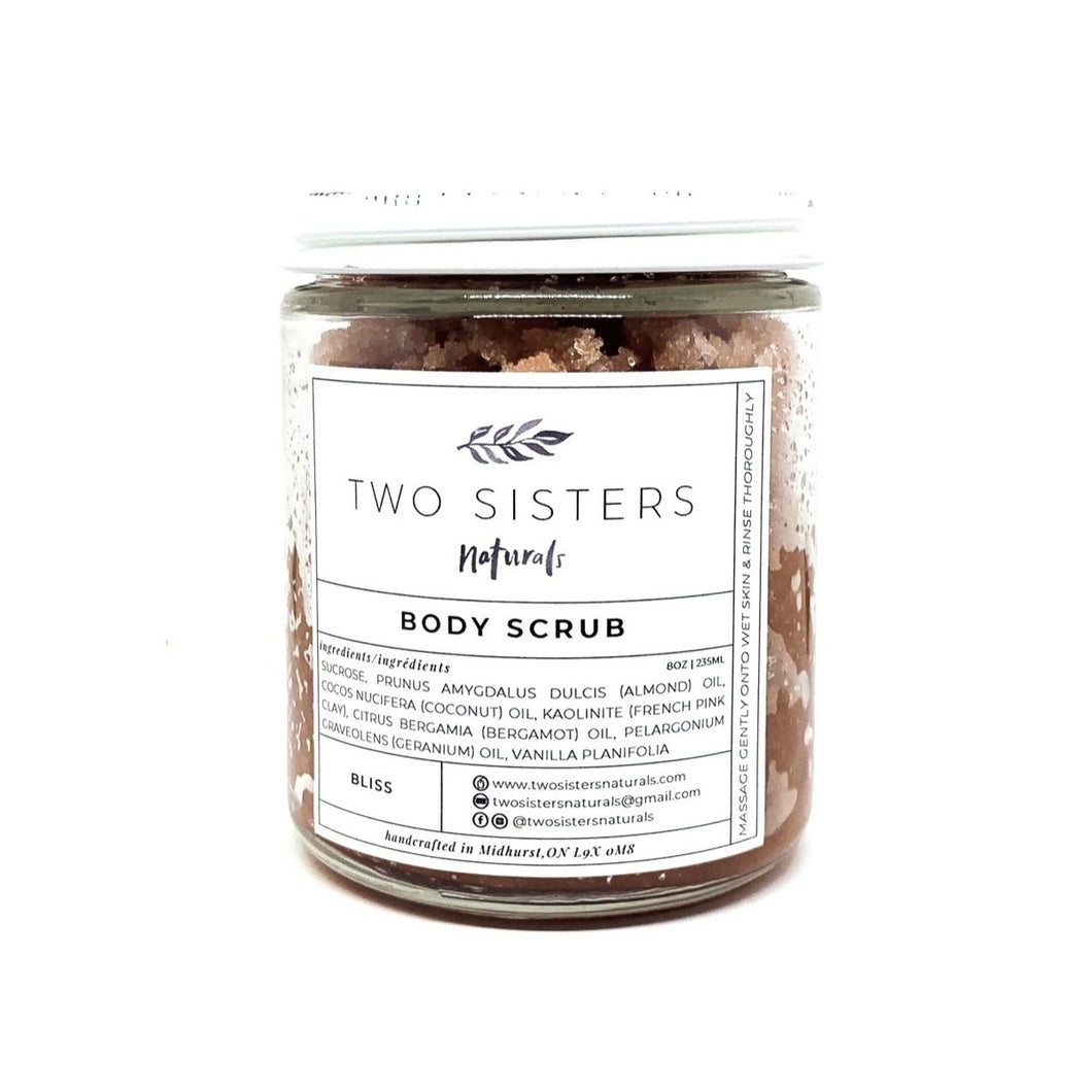 Two Sisters Naturals Body Scrub!  Bliss!