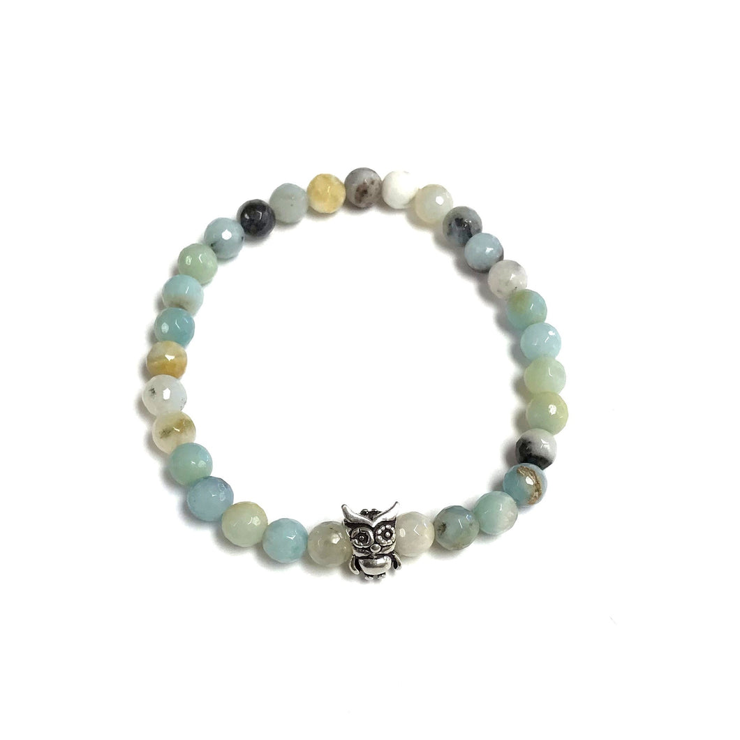 BZen Amazonite Bracelet With Owl Charm!