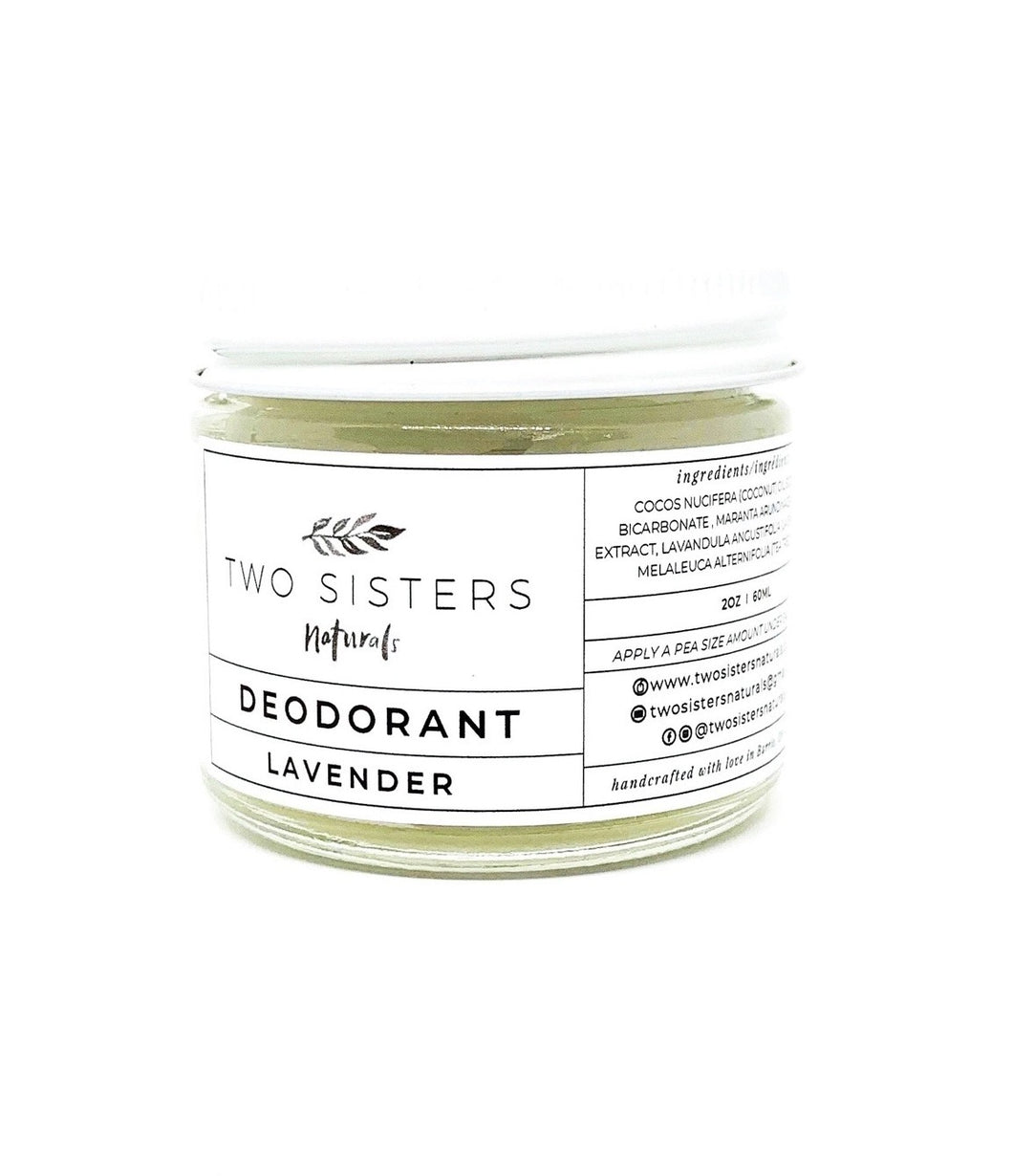 Two Sisters Naturals Lavender Deodorant!