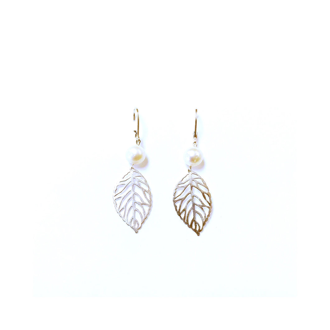 Sterling silver Leafy Earrings