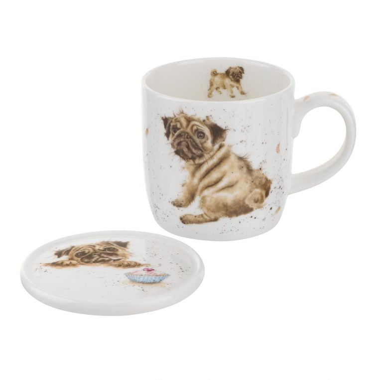 Pug Mug & Coaster Set By Wrendale!