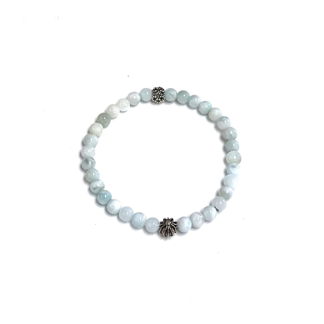 Larimar BZen Bracelet With Sea Urchin!
