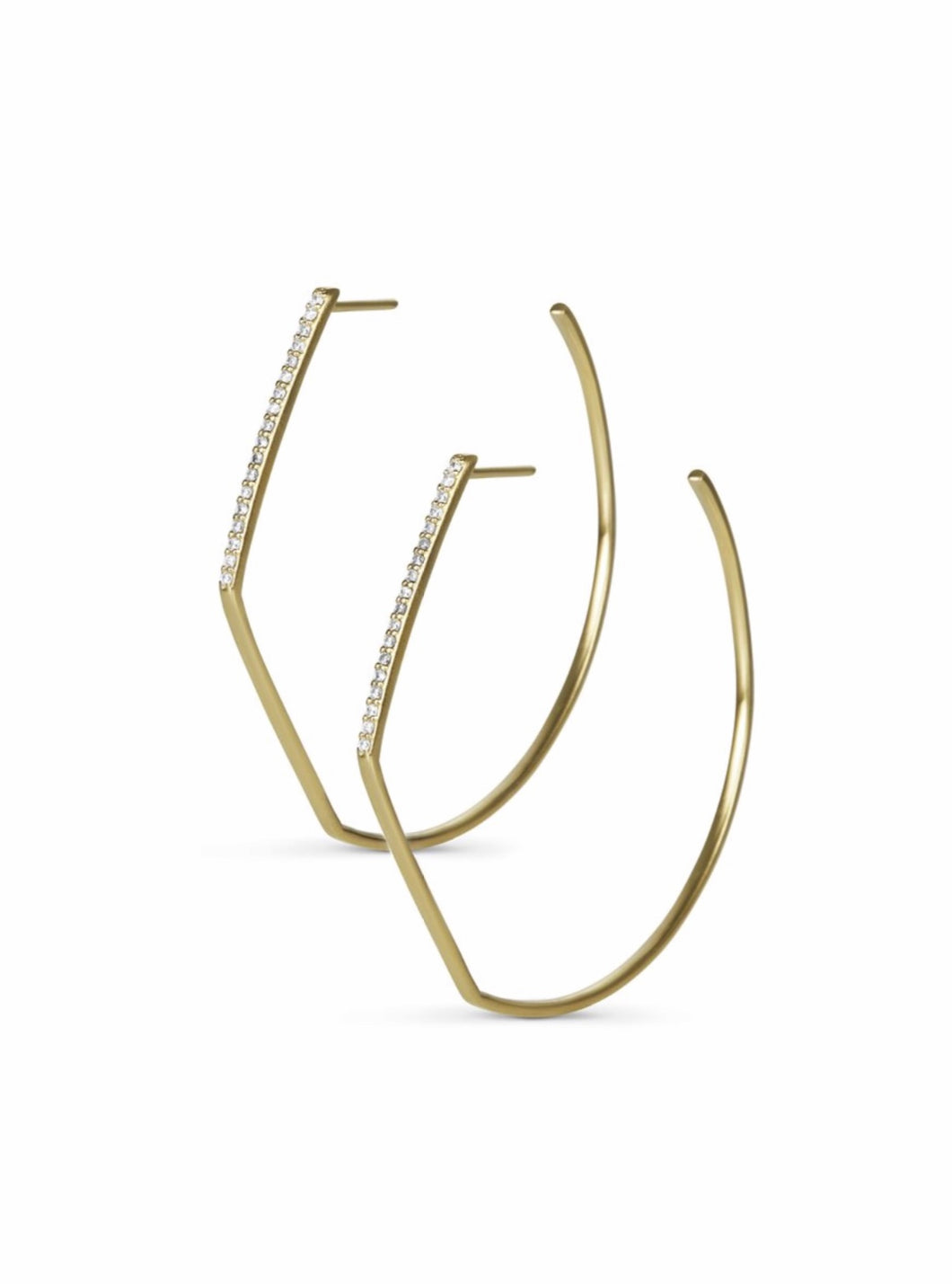 earrings hoop gold