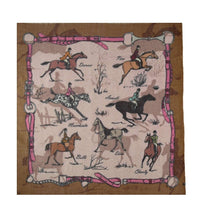 English Style Horses Scarf!  Bronze!  Now 50% Off!