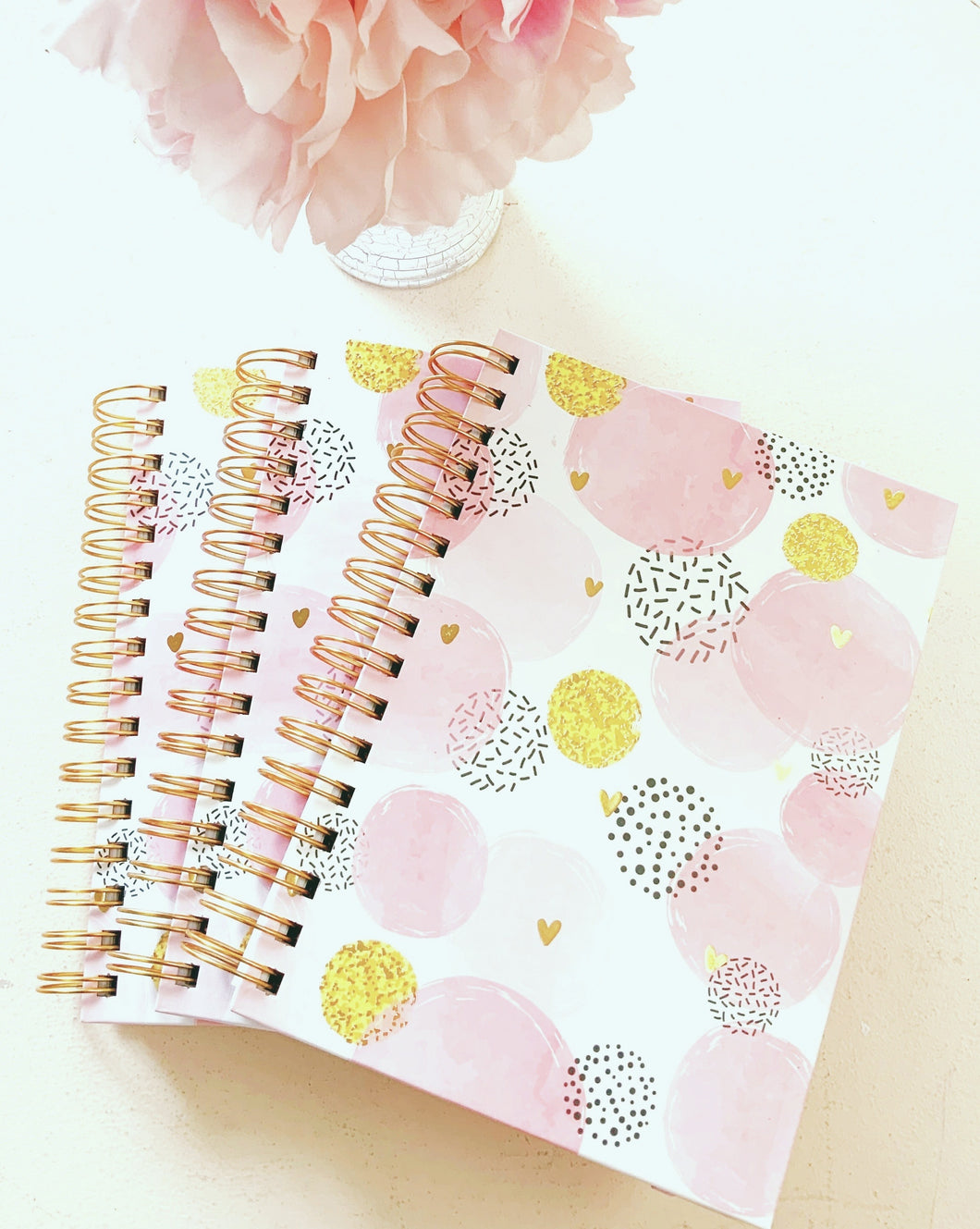 """Lovely"" Pink and Gold Heart Journal!"