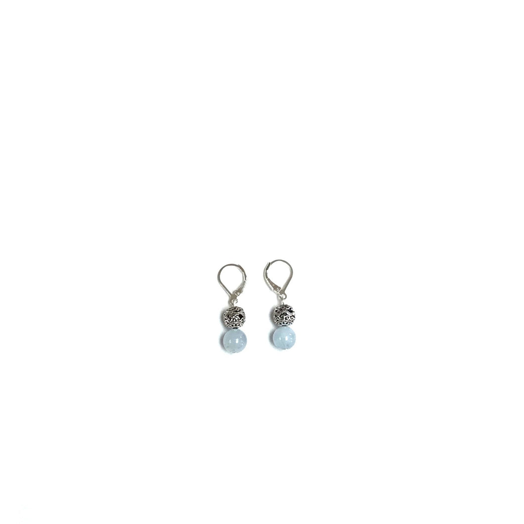 Aquamarine & Sterling Silver Earrings!