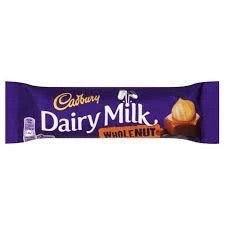 Cadbury Dairy Milk Whole Nut Chocolate Bar!
