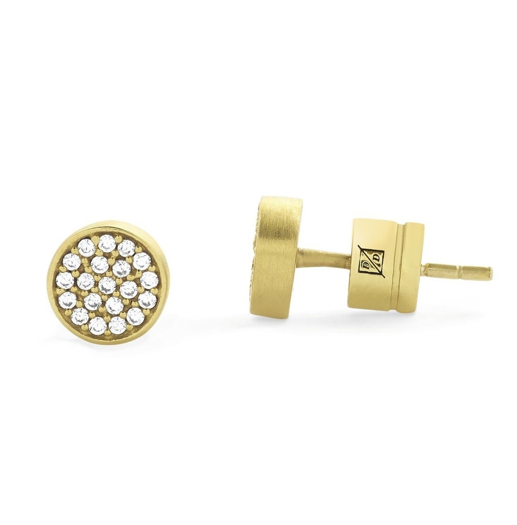 earrings stud gold