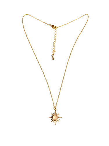 Star Necklace with Natural Gemstone!  White!