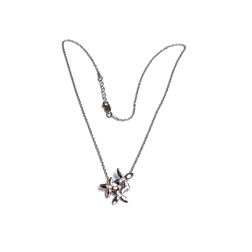 Floral Necklace with a Sparkly Cz's!