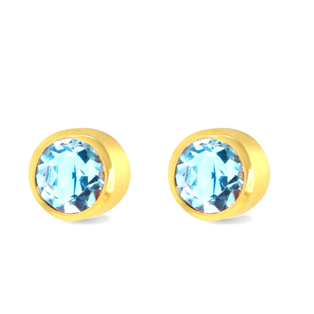 Large Core Knockout Earring by Dean Davidson!  Blue Topaz!