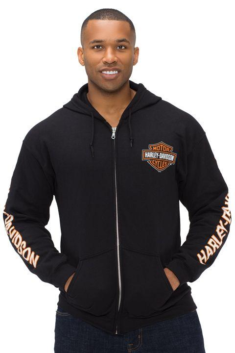 Harley-Davidson Black Bar & Shield Zip Hoodie - 40290206