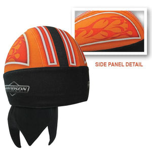 Harley-Davidson Black & Orange with Flames Headwrap - HW22864