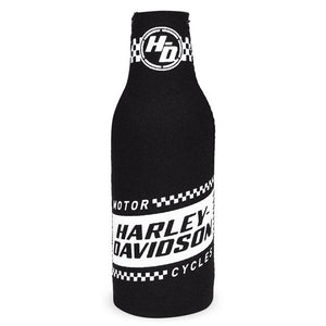 Harley-Davidson Ignition Neoprene Zippered Bottle Wrap, Black & White BZ33488