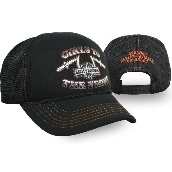 Harley-Davidson Ladies - Girls To The Front Trucker Hat - BCC28130