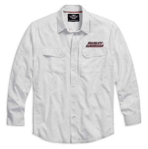 Harley-Davidson Long Sleeve Performance Button Front Shirt- 99016-15VM