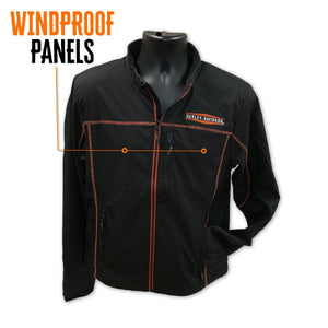 Harley-Davidson Men's Anton Windproof Mid-Layer Casual Jacket, Black 98575-16VM