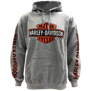 Harley-Davidson™ Men's Bar & Shield Logo Pullover Hooded Sweatshirt, Gray