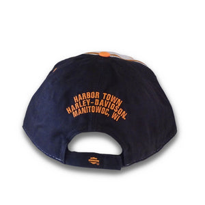 Harley-Davidson™ Men's Embroidered H-D Script Colorblocked Baseball Cap
