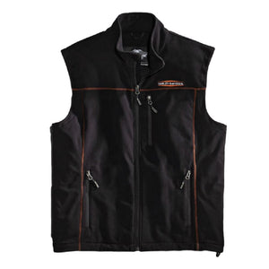 Harley-Davidson™ Men's Fleece Mid-Layer Vest Windproof, Black. 98567-16VM