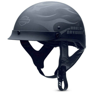 Harley-Davidson™ Men's Ghost Flames Hybrid Ultra-Light Half Helmet 98242-13VM