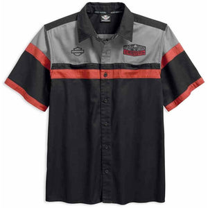 Harley-Davidson™ Men's H-D Colorblock Garage Short Sleeve Shirt 96418-18VM