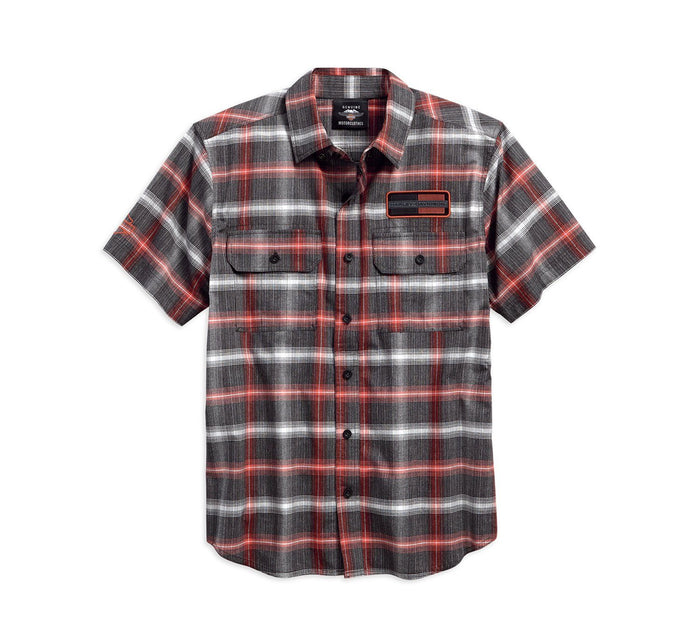 Harley-Davidson® Mens High Density Graphic Plaid Woven Shirt 96121-18VM